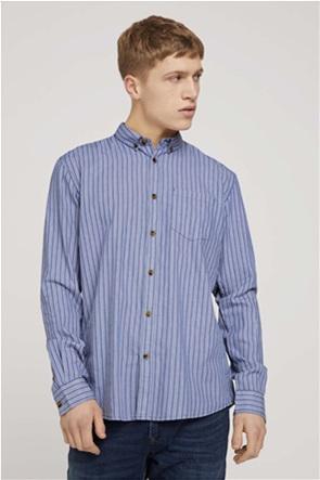 Tom Tailor ανδρικό πουκάμισο ριγέ με τσέπη