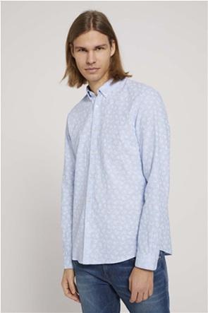Tom Tailor ανδρικό λινό πουκάμισο με μικροσχέδιο