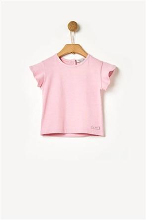 Yell-oh! βρεφική μπλούζα με βολάν basic