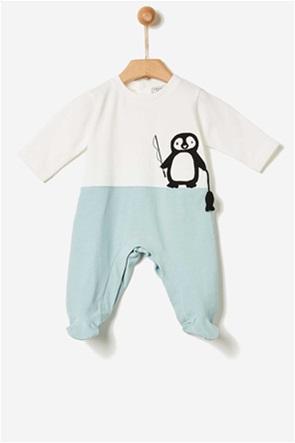 Yell-oh! βρεφικό φορμάκι με penguin print
