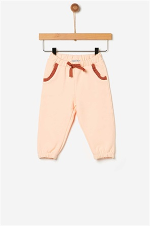 Yell-oh! βρεφικό παντελόνι φούτερ με απλικέ φιόγκο