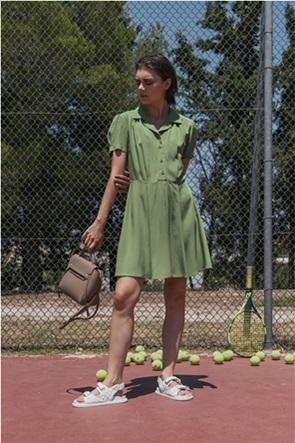 Helmi γυναικείο κοντό φόρεμα με κουμπιά
