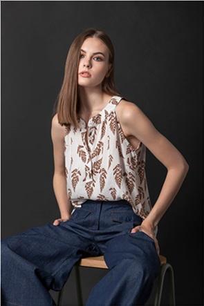 Helmi γυναικεία μπλούζα αμάνικη με all-over print