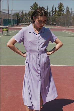 Helmi γυναικείο midi σεμιζιέ φόρεμα