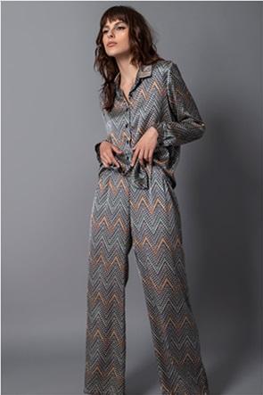 Helmi γυναικείο παντελόνι με all-over print και τσέπες στο πλάι