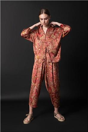 Helmi γυναικείο παντελόνι με all-over print λαχούρι