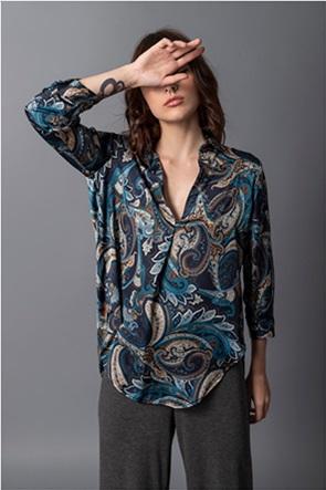 Helmi γυναικεία μπλούζα σατέν με all-over print
