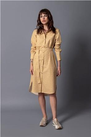Helmi γυναικείo midi φόρεμα σεμιζιέ με all-over print