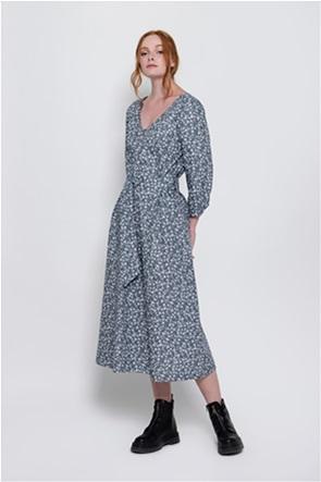 Helmi γυναικείο midi φόρεμα με all-over floral print και ζώνη στη μέση