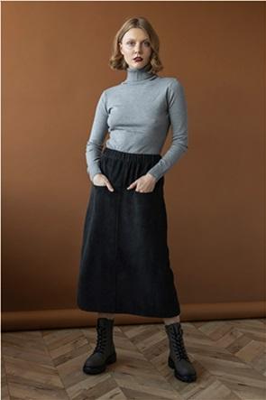 Helmi γυναικεία midi φούστα κοτλέ