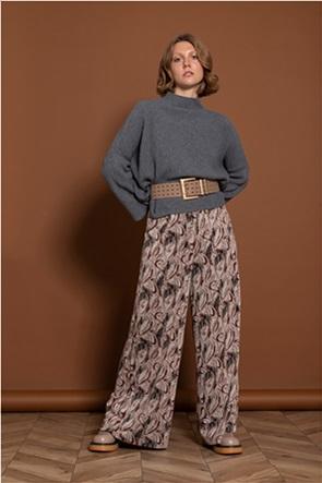 Helmi γυναικεία παντελόνα cropped με λαχούρια