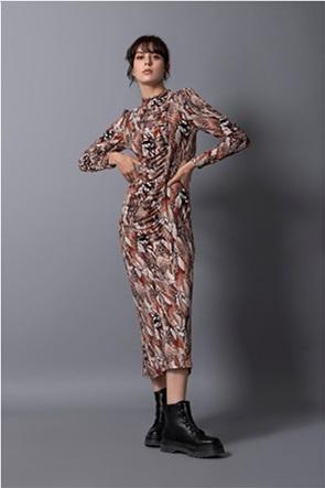 "Helmi γυναικείο midi φόρεμα με all-over print ""Slim Fit"""