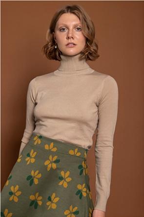 Helmi γυναικεία πλεκτή μπλούζα ζιβάγκο μονόχρωμη