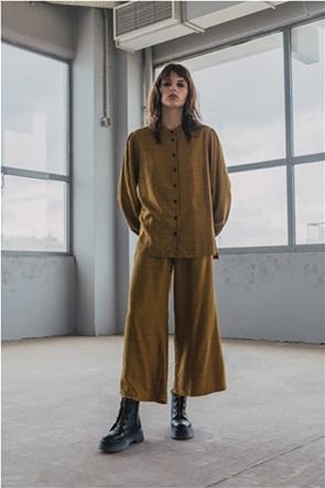Helmi γυναικεία παντελόνα με καρό σχέδιο