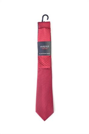 Vardas ανδρικό μεταξωτό σετ γραβάτα και μαντηλάκι