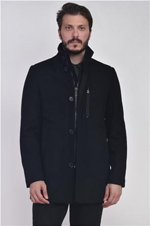 Vardas ανδρικό παλτό με τσέπη με φερμουάρ