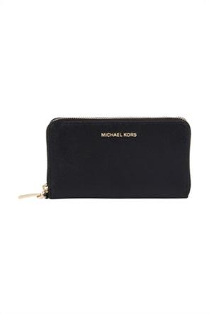 Michael Kors γυναικείo δερμάτινo πορτοφόλι με φερμουάρ