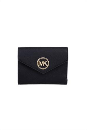 """Michael Kors γυναικείο πορτοφόλι με flap κλείσιμο και μεταλλικό logo """"Carmen"""""""