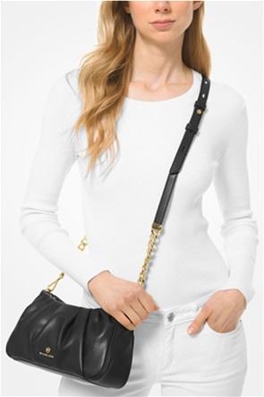 "Michael Kors γυναικείο clutch τσαντάκι με μεταλλικό λογότυπο ""Hannah"""