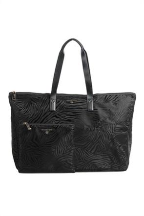 "Michael Kors γυναικεία τσάντα ώμου με zebra print ""Jet Set Travel"""