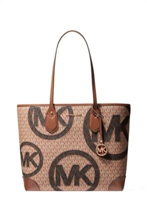 "Michael Kors γυναικεία τσάντα ώμου με all-over logo print ""Eva"""