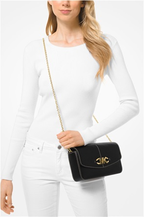 "Michael Kors γυναικείο δερμάτινο clutch τσαντάκι με μεταλλικό λογότυπο ""Izzy"""