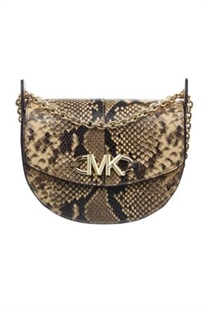 "Michael Kors γυναικεία δερμάτινη τσάντα crossbody με snake print ""Izzy"""