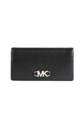 """Michael Kors γυναικείο δερμάτινο πορτοφόλι με μεταλλικό λογότυπο """"Izzy"""""""