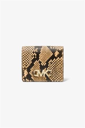 "Michael Kors γυναικείο δερμάτινο πορτοφόλι με snake print ""Izzy"""