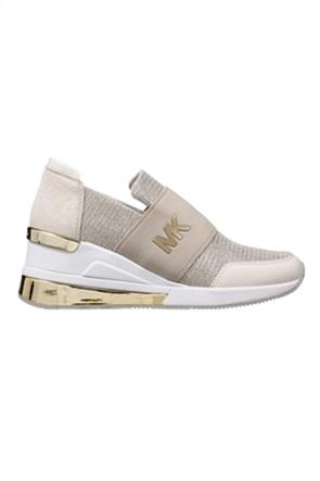 """Michael Kors γυναικεία slip-on sneakers με διαφορετικές υφές """"Felix"""""""