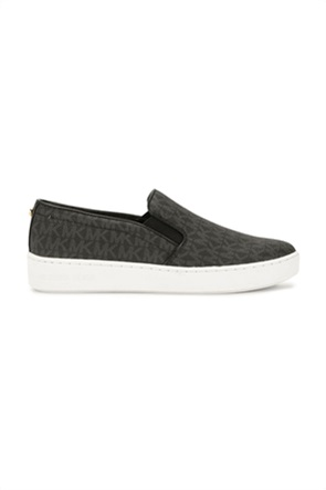 "Michael Kors γυναικεία παπούτσια slip-on με all-over logo print ""Keaton"""