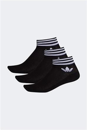 Adidas σετ unisex κάλτσες με κεντήμενο λογότυπο ''Trefoil Ankle'' (3 ζεύγη)