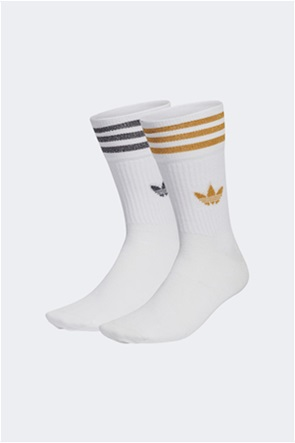 Adidas σετ γυναικείες κάλτσες με κεντήμενο λογότυπο ''Μid Cut Glitter Crew'' (2 ζεύγη)