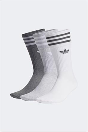 Adidas σετ unisex ψηλές κάλτσες με κεντήμενο λογότυπο (3 ζεύγη)