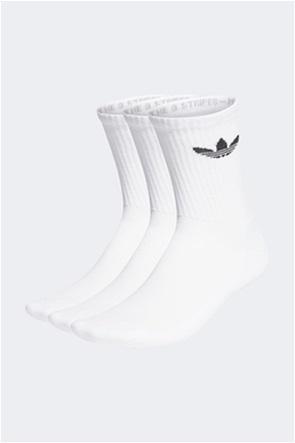Adidas unisex ψηλές κάλτσες με κεντημένο logo ''Cushioned Trefoil Mid Cut Crew'' (3 ζεύγη)