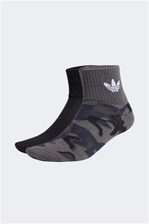 Adidas σετ unisex κάλτσες με κεντήμενο λογότυπο ''Camo Mid Ankle'' (2 ζεύγη)