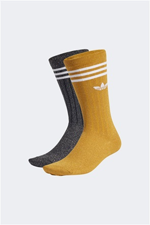 Adidas σετ γυναικείες ψηλές κάλτσες ''Full Glitter Crew'' (2 ζεύγη)