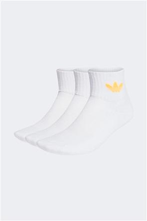 Adidas unisex κάλτσες με κεντημένο logo ''Μid Cut Crew'' (3 ζεύγη)