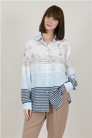 Molly Bracken γυναικείο πουκάμισο με print