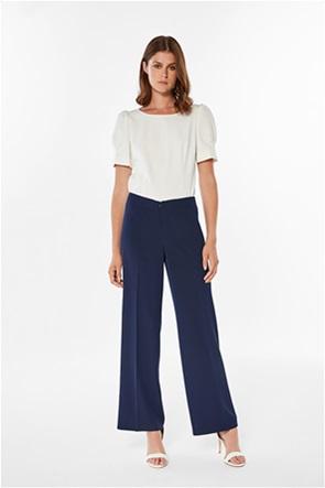 Jupe γυναικείο παντελόνι υφασμάτινο μονόχρωμο