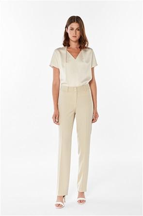 Bella P γυναικείο παντελόνι ψηλόμεσο με ριγέ σχέδιο