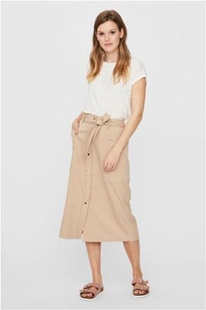 Vero Moda γυναικεία midi μπλούζα με κουμπιά