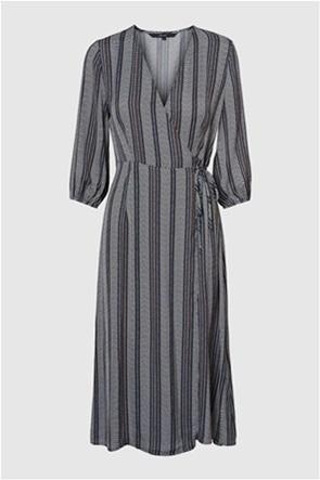 Vero Moda γυναικείο midi φόρεμα ριγέ