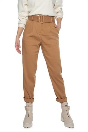 Vero Moda γυναικείo παντελόνι μονόχρωμο με ζώνη στη μέση ''Julie''