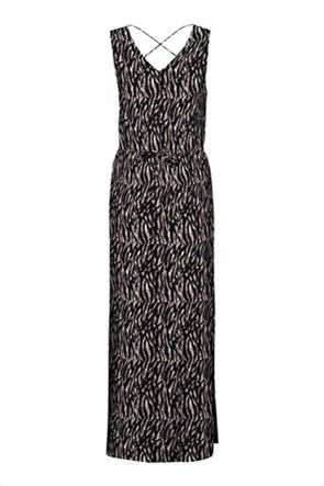 Vero Moda γυναικείo maxi φόρεμα αμάνικο με all-over print