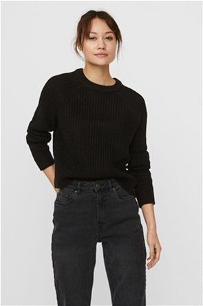 Vero Moda γυναικείο πλεκτό πουλόβερ μονόχρωμο