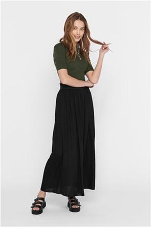 ONLY γυναικεία maxi μονόχρωμη φούστα
