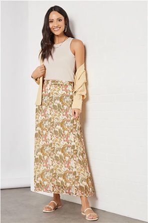 ONLY γυναικεία maxi φούστα με all-over floral print