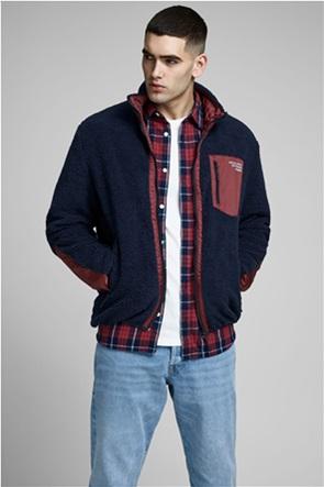 JACK & JONES ανδρικό fleece jacket με ψηλό λαιμό