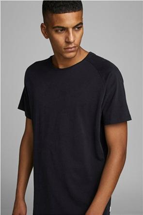 JACK & JONES ανδρικό Τ-shirt με curved τελείωμα